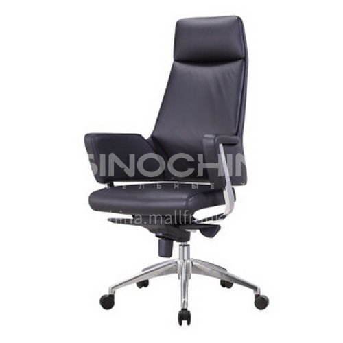 CX-AM 1801A, B, C- office chair, high-quality nappa leather, environmental plywood, medium-soft high-density sponge, electroplated gas rod, electroplated square feet