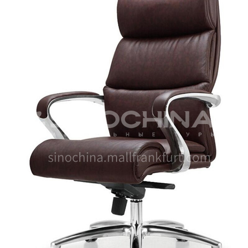 ZYTX-K1505A B C High-end fashion leather cushion metal office chair with wheels tripod