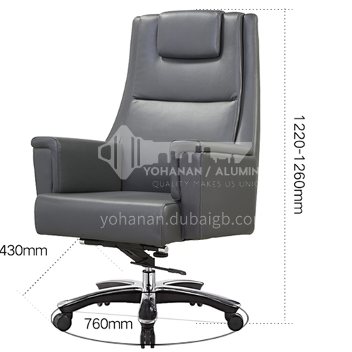 ZYTX-K1616 A B High-end fashion leather cushion metal office chair with wheels tripod
