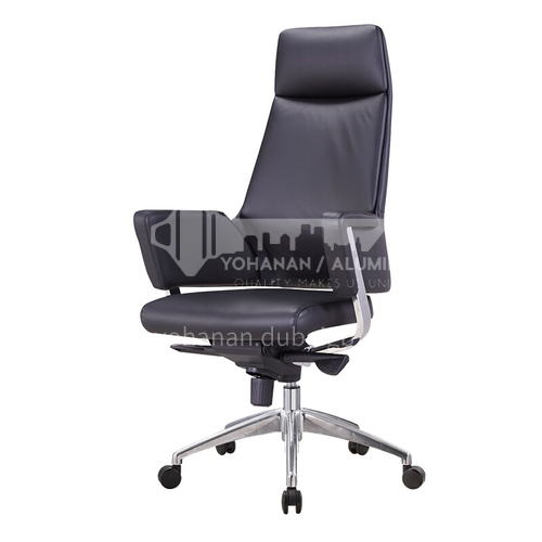 ZYTX-K1665A B C High-end fashion leather cushion metal office chair with wheels tripod
