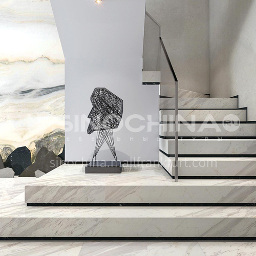Natural white modern hot-selling marble staircase M-YC00L