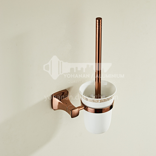 Bathroom simple rose gold stainless steel toilet brush80808