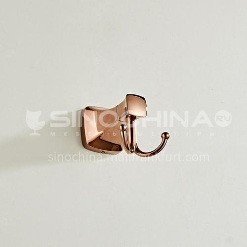 Bathroom simple rose gold stainless steel coat hook80801