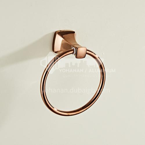 Bathroom simple rose gold stainless steel towel ring80805