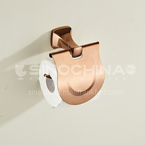Bathroom simple rose gold stainless steel towel rack with cover80806