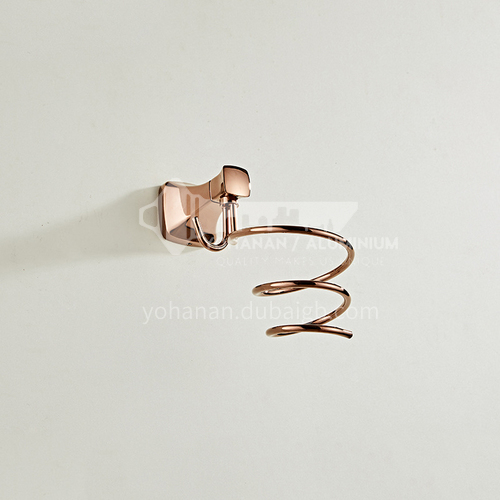 Bathroom concise style   rose gold stainless steel hair dryer rack 80810