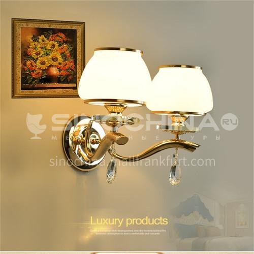 European style living room wall lamp luxury simple European restaurant crystal lamp bedroom lamp simple European style lamp-AM882601