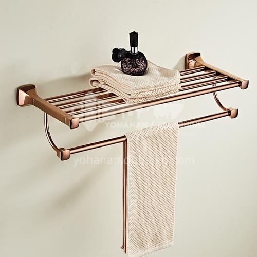 Bathroom simple rose gold stainless steel shelf80814