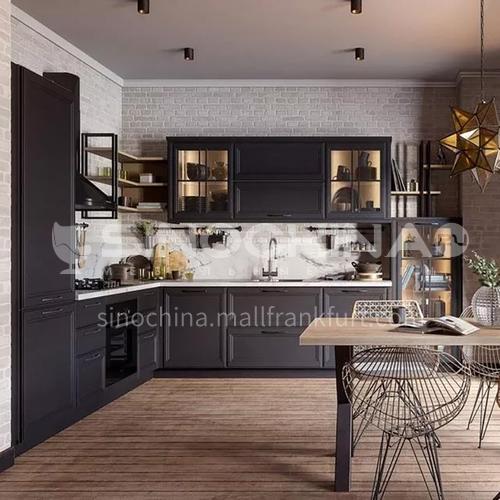 PVC with HDF dark kitchen cabinet GK-911
