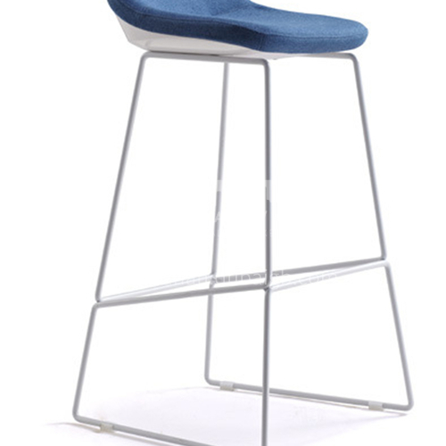 ZYTX-P-02 Black and white sprayed steel foot bar chair with solid tripod surface