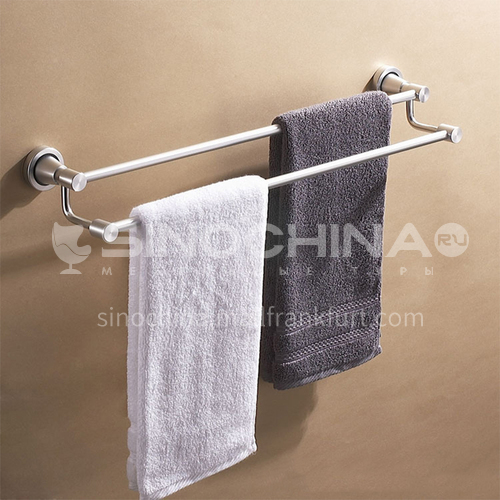 Bathroom silver space aluminum parallel bars towel rack5312
