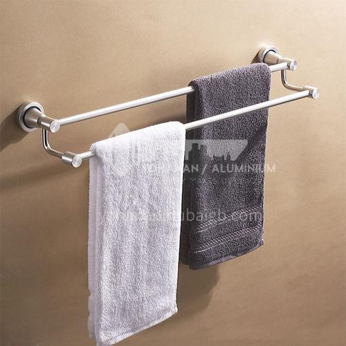 Bathroom silver space aluminum parallel bars towel rack5312