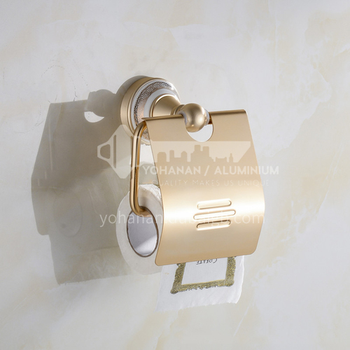 Bathroom champagne gold space aluminum paper towel holder with cover9106