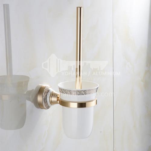 Bathroom champagne gold space aluminum toilet brush9108