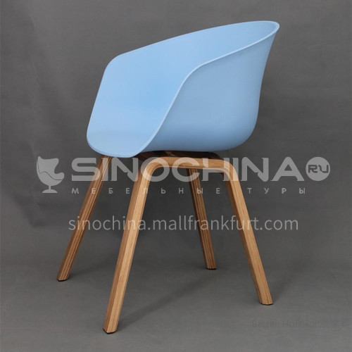 HS-848C leisure dining chair, negotiation chair, PP injection plastic seat, two tripod material options