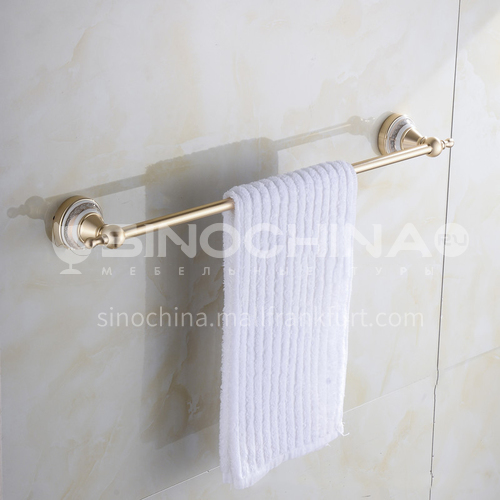Bathroom champagne gold space aluminum single pole towel rack9111