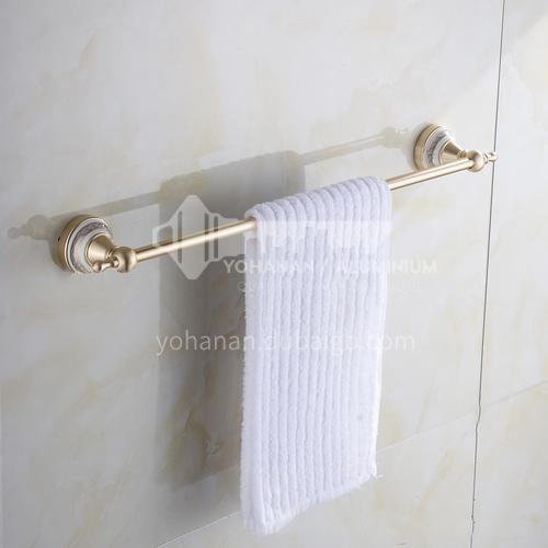 Bathroom champagne gold space aluminum single pole towel rack9111