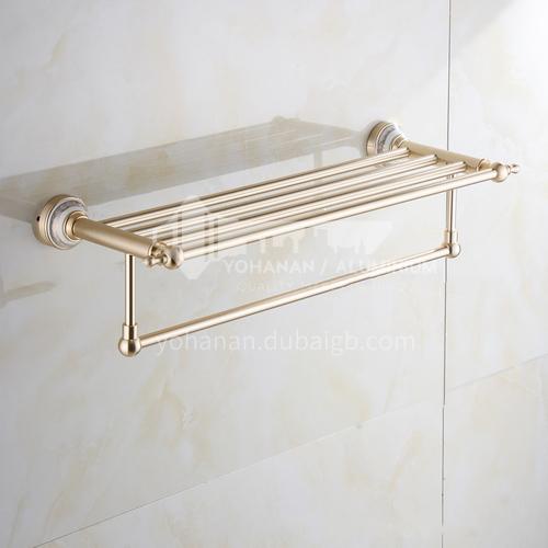 Bathroom champagne gold space aluminum shelf9114