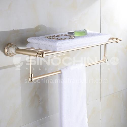 Bathroom champagne gold space aluminum ceramic base shelf9214