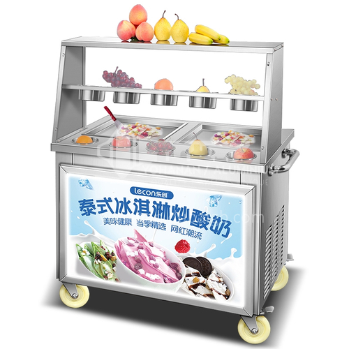 Lecon Frying Ice Machine Commercial Fully Automatic Frying Yogurt Machine
