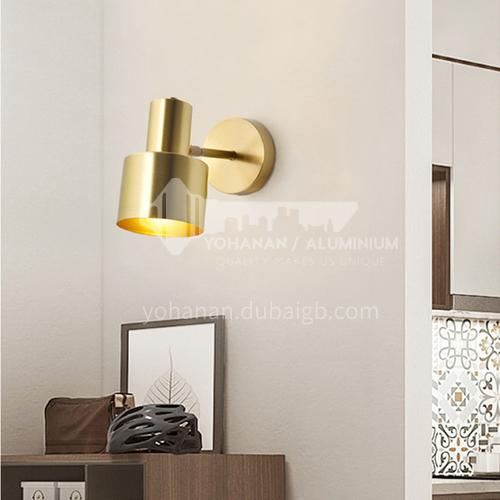 Copper wall lamp Nordic minimalist aisle wall lamp personality creative bedroom bedside lamp corridor creative lamps-AG-LB-3036