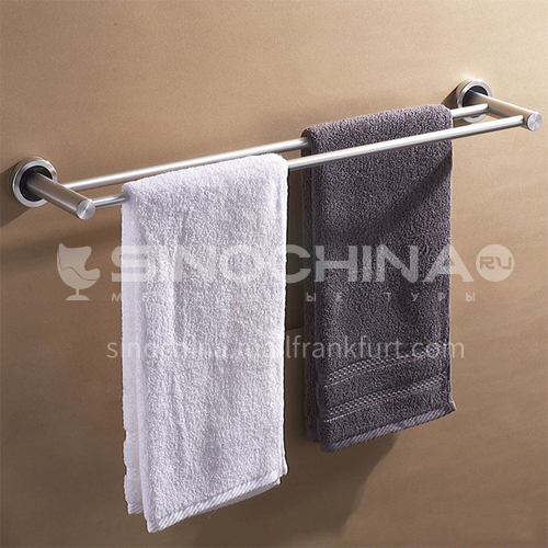 Bathroom silver space aluminum simple parallel bars towel rack9612