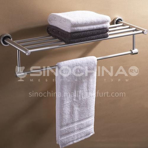 Bathroom silver space aluminum simple shelf with towel bar9614