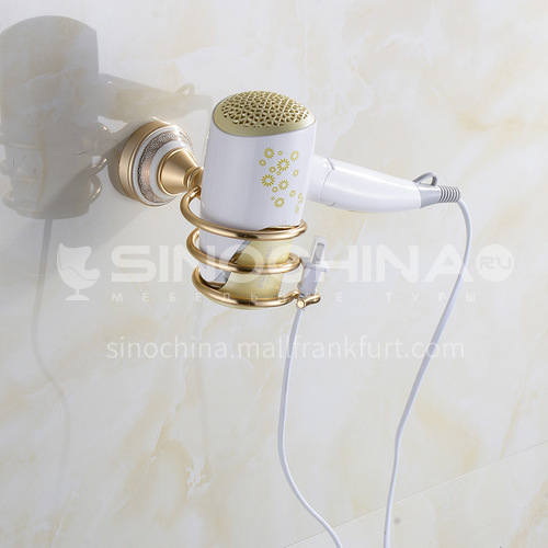 Bathroom champagne gold space aluminum ceramic pedestal  hair dryer holder  MY-91010