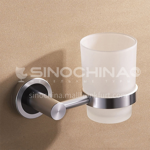 Bathroom silver space aluminum simple mouthwash cup holder MY-9603