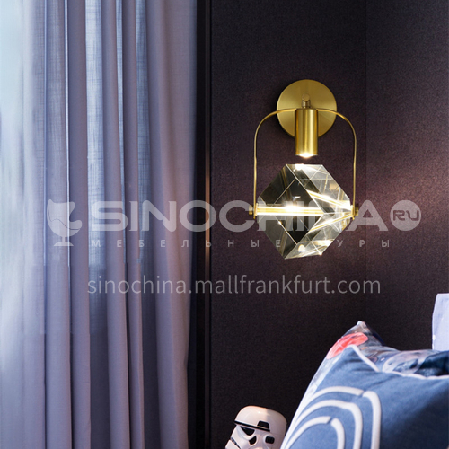Modern light luxury wall lamp living room wall lamp indoor bedside lamp Nordic creative crystal lamp-AG-LB3147