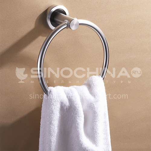 Bathroom silver space aluminum simple towel ring MY-9605