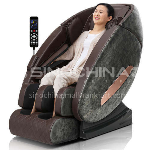 JR-A5 New style · Crocodile texture A5 multi-dimensional LCD large screen touch U-shaped headrest Bluetooth HIFI audio retractable massage chair