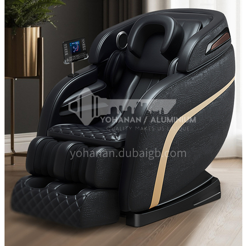 JR-A6 New style multi-dimensional LCD large screen touch U-shaped headrest Bluetooth HIFI audio retractable massage chair