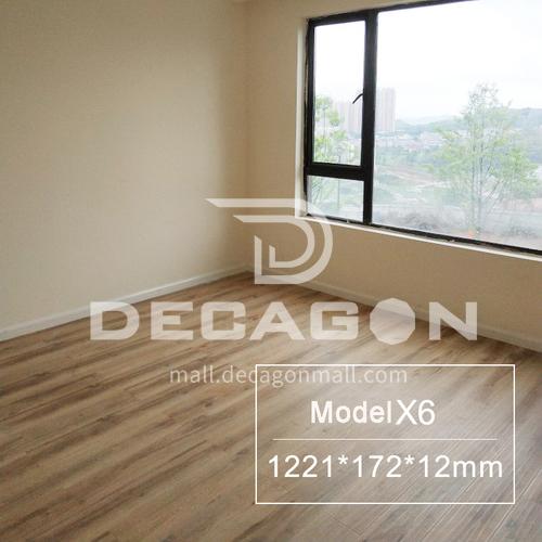 12mm Nordic grey household imitation solid wood retro waterproof and wear-resistant laminate wood flooring