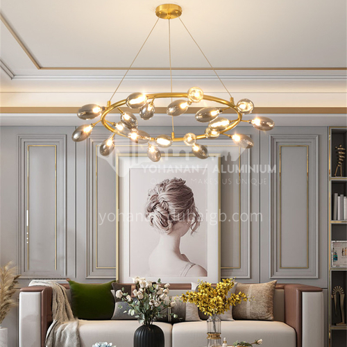 Creative Nordic style chandelier living room dining room chandelier creative glass lampshade chandelier-AG-LD1290
