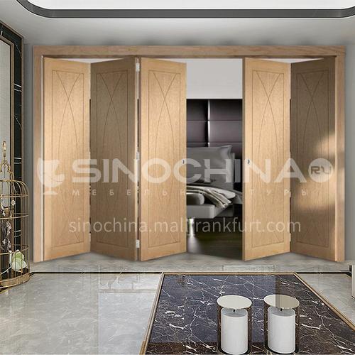 Fashion modern style composite solid wood folding door cloakroom door living room kitchen door
