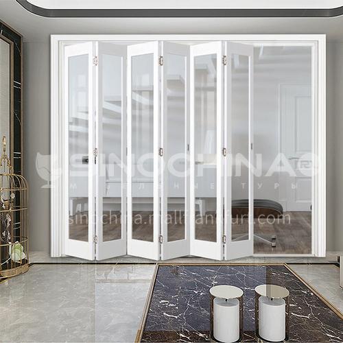 G wooden folding door composite wooden door with glass bedroom door living room door kitchen door modern style 2