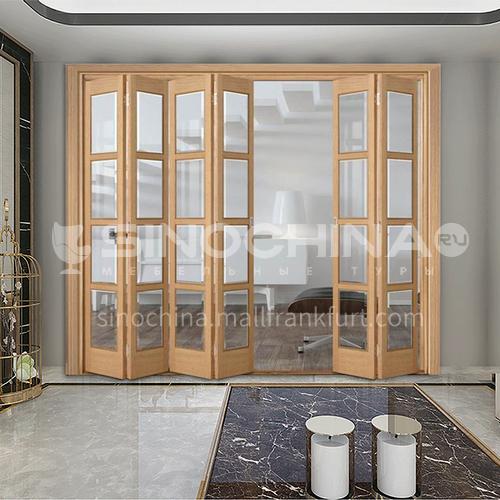 G wooden folding door composite wooden door sticker belt glass bedroom door living room door kitchen door modern style 5
