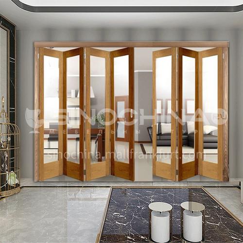 G wooden folding door composite wooden door sticker belt glass bedroom door living room door kitchen door modern style 6