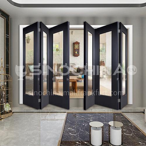 G wooden folding door composite wooden door with glass bedroom door living room door kitchen door modern style 7