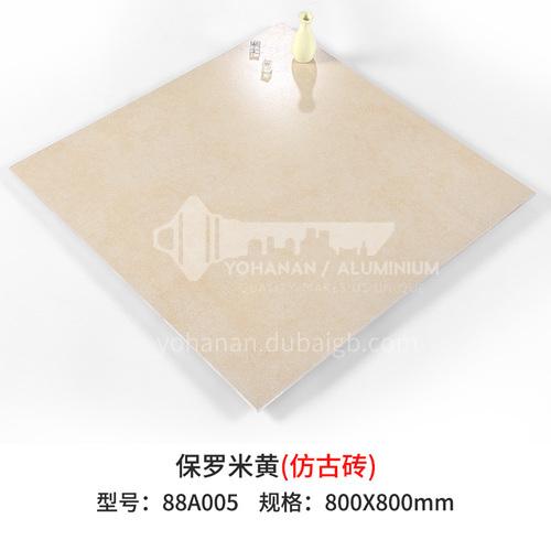 Modern minimalist gray antique brick living room dining room non-slip floor tiles-SKL88A005 800mm*800mm