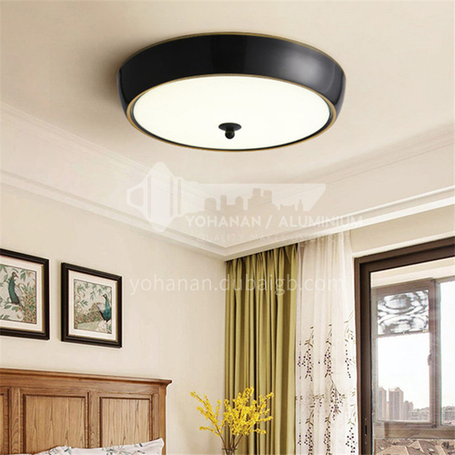 All copper modern minimalist master bedroom lamp study lamp porch balcony round warm lamps-AG-LX6870