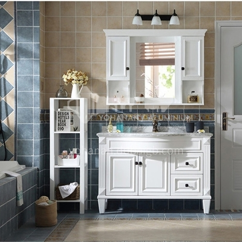 European style bathroom cabinet solid wood antique mirror cabinet combination M009-Empire