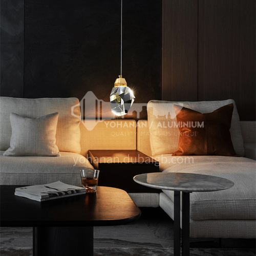 Chandelier Light Luxury All Copper Dining Room Lamp Bar Table Lamp Bedroom Post-modern Crystal Home Entrance Small Chandelier-AG-LD1306