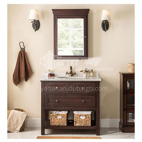American simple solid wood bathroom cabinet bathroom cabinet M96630-Empire