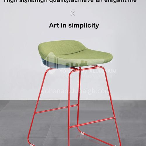 DPT-113, 113-1-Bar chair, hardware feet, shaped cotton, skin-friendly fabric, PU, comfortable sponge cushion