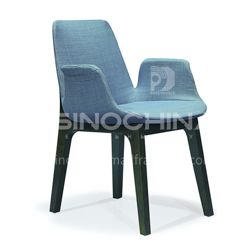 DPT-250 Minimalist dining room chair, ash solid wood + stereotyped cotton, a variety of material options