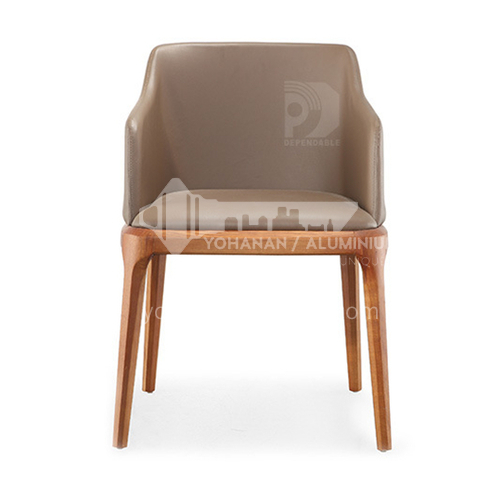 DPT-2127 Minimalist leisure coffee chair, dining chair, ash solid wood + stereotyped cotton