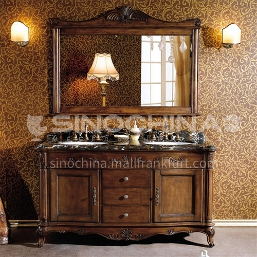 European style bathroom cabinet oak floor American solid wood bathroom cabinet O9986-Empire