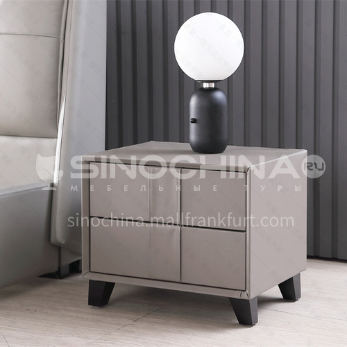 LS-SLS-G303 Simple solid wood + leather bedside table